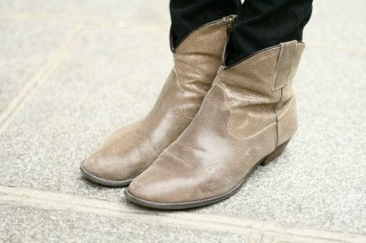 bottines cuir serpent