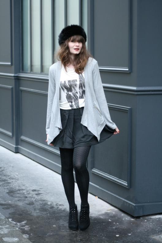 look noir gris blanc