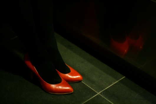 red stilettos