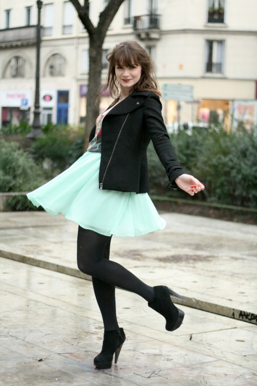 tenue jupe verte perfecto