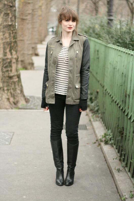 tenue veste kaki bimatiere