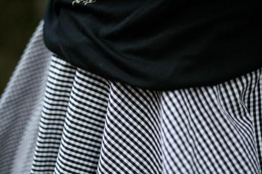 jupe vichy noir