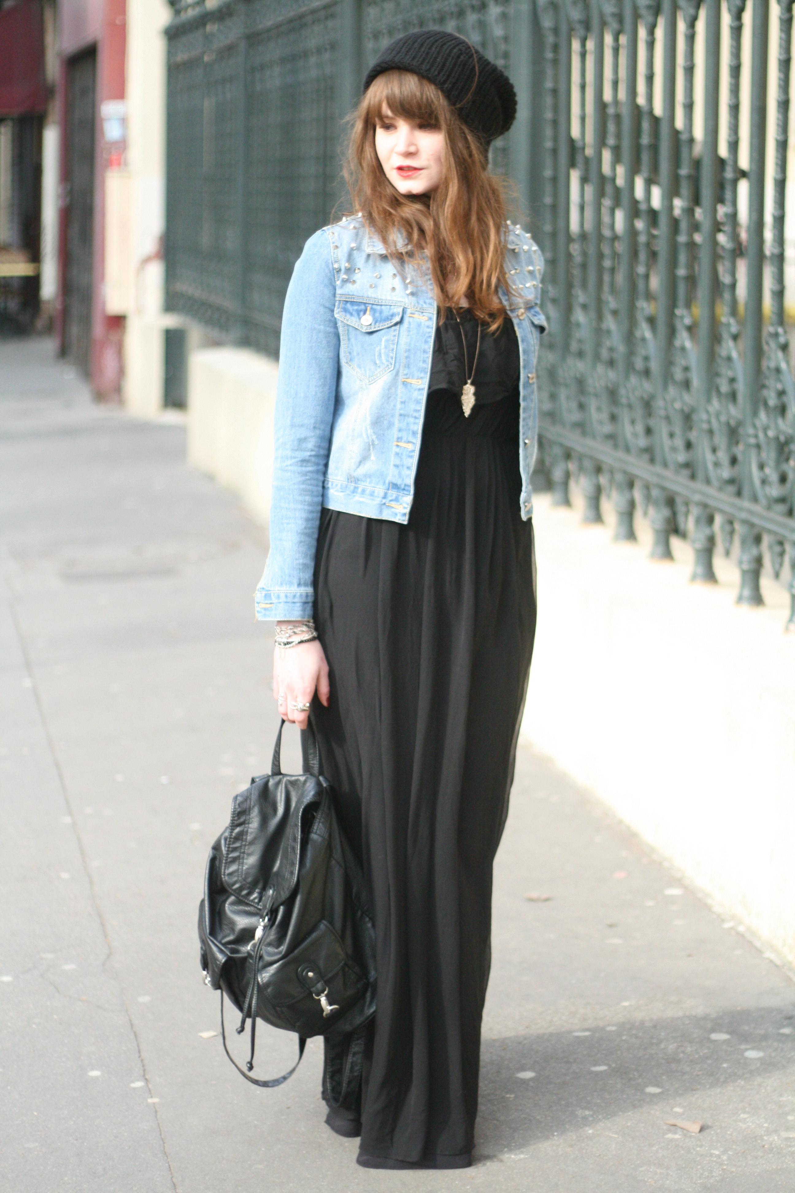 8bc2e08097be Robe longue avec veste cuir – Des vêtements élégants pour tous les jours