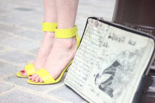 sandales fluo