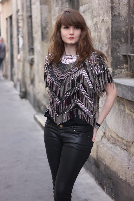 look top paillettes
