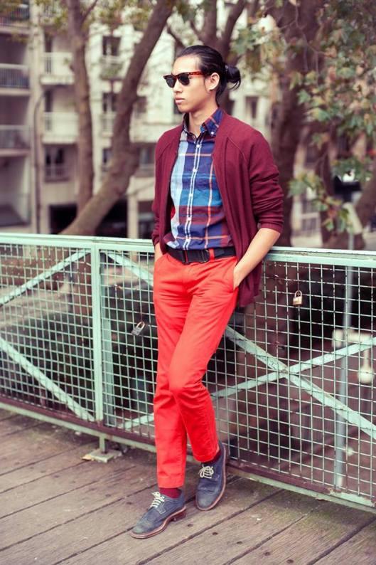 look pantalon orange