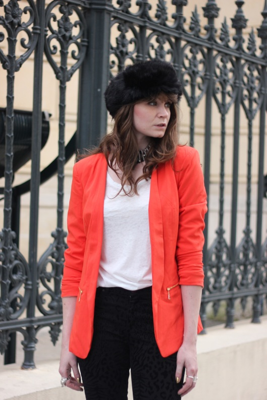 look veste orange