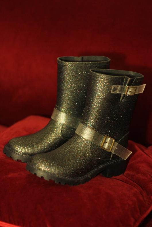 bottes pluie paillettes