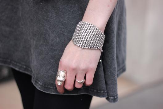 bracelet maille argent
