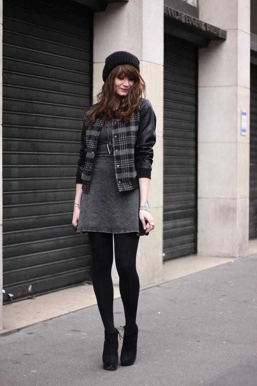look gris noir blog