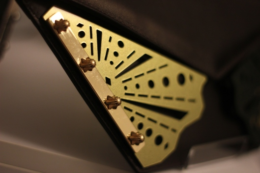 gold metal bag