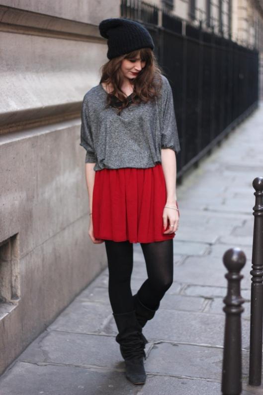 look jupe rouge