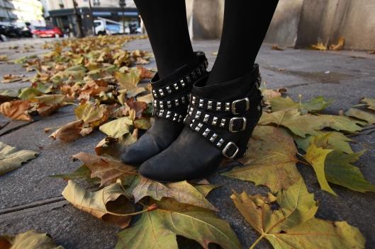 low boots clous zara