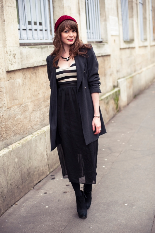 look robe longue hiver