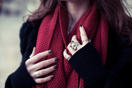 snood rouge