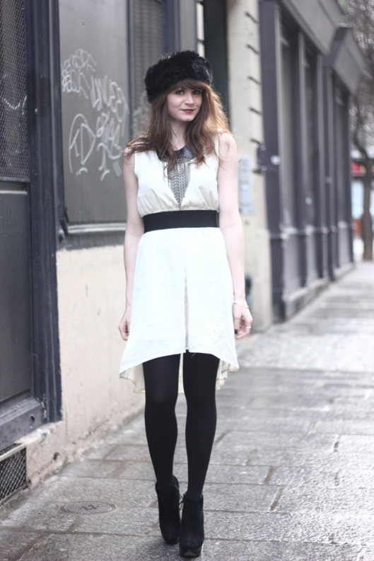 look robe blanche hiver
