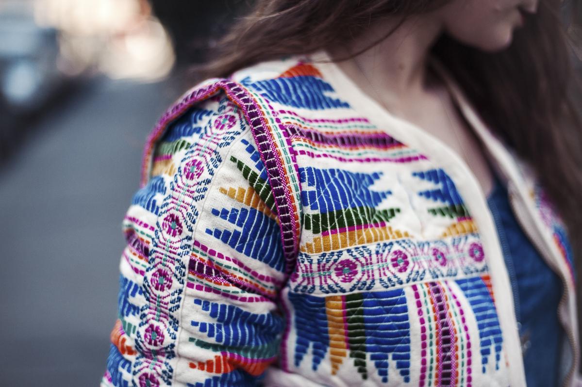 veste motif aztèque femme