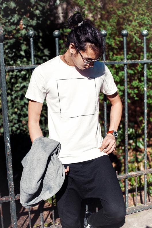 tee shirt geometrique