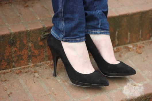 escarpins jeans