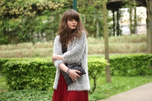 look jupe longue rouge