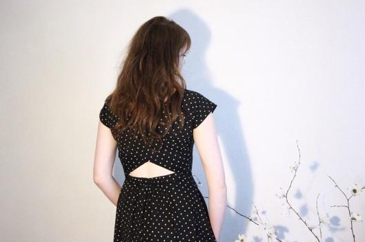 robe dos ouvert