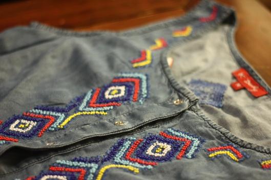 broderie azteque perles
