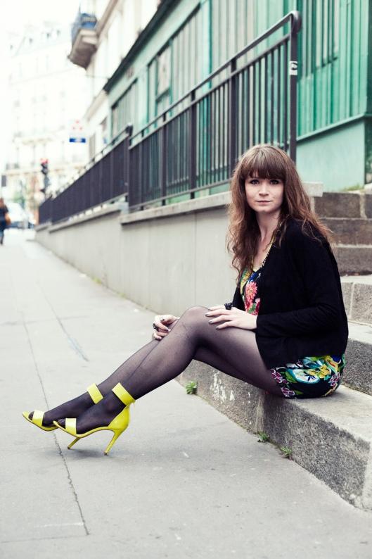 jambes blogueuse