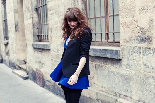 look robe bleue