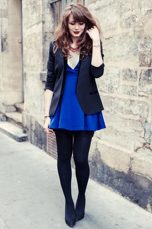 robe bleue blazer