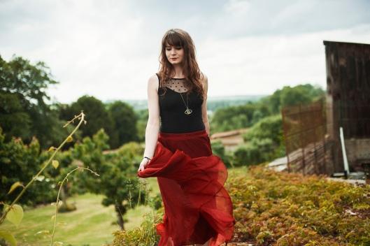 jupe rouge blogueuse