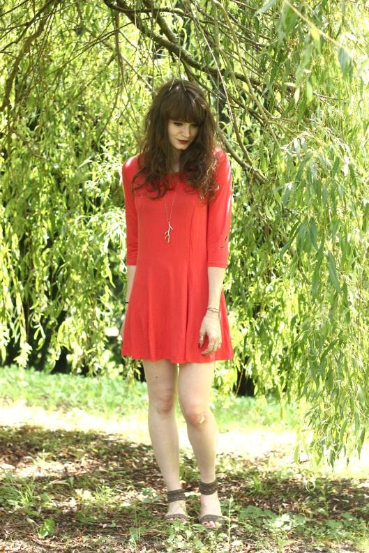 look robe rouge