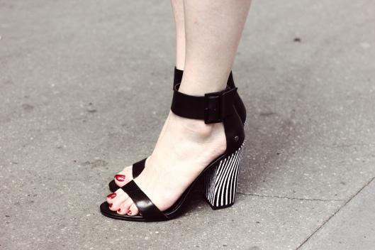 sandales zebre