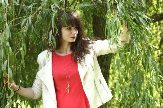 veste blanche tweed