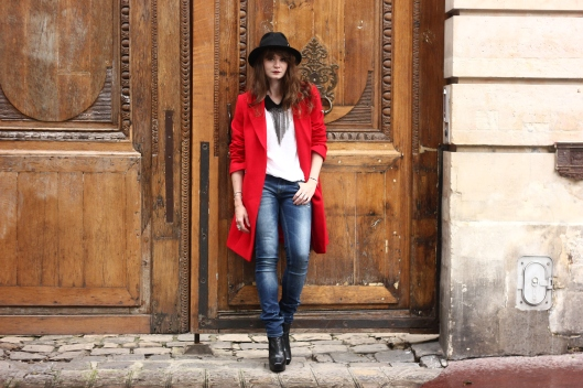 look veste rouge