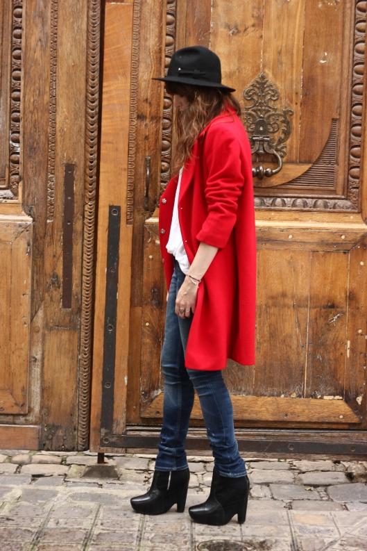 manteau rouge blog