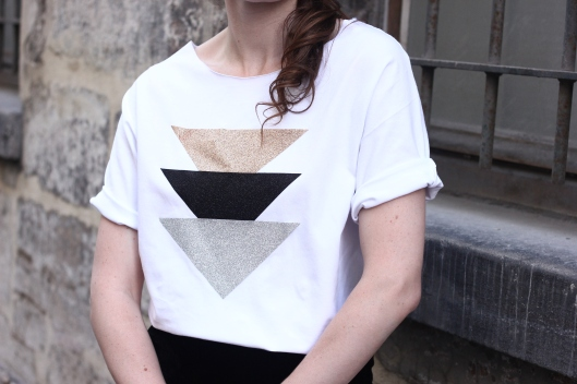 top triangles paillettes