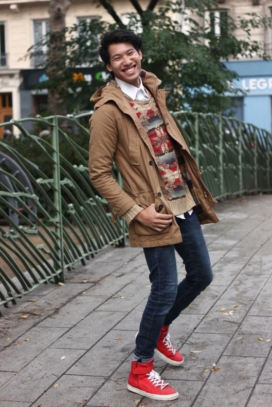 happy male blogger