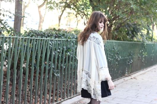 kimono en dentelle