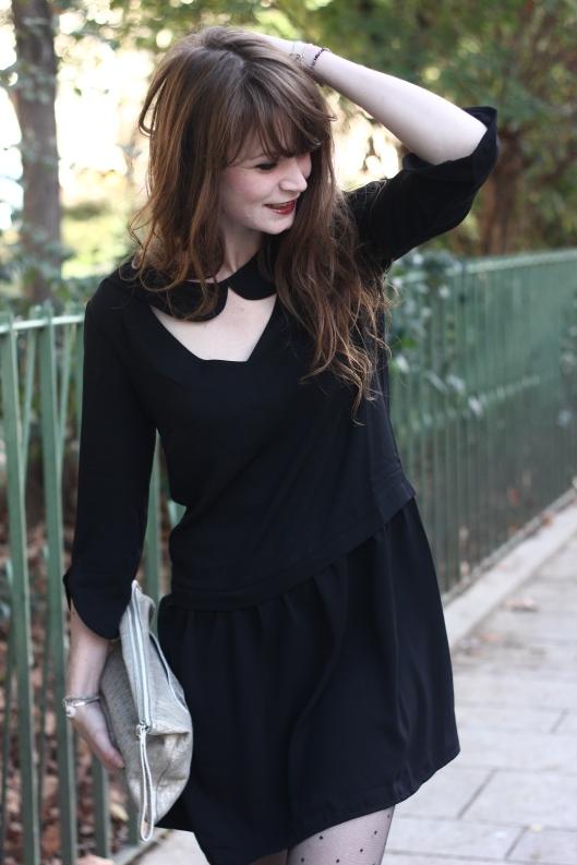 robe col claudine découpe