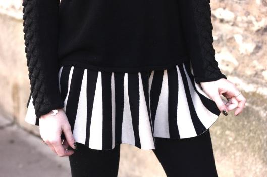 jupe plissée bicolore
