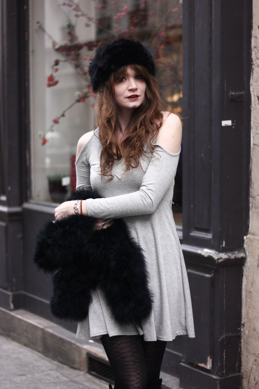 robe grise hiver