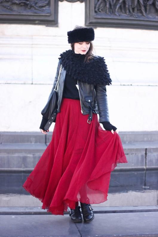 jupe longue hiver