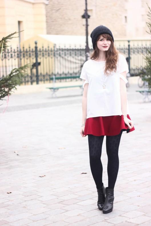jupe rouge derhy