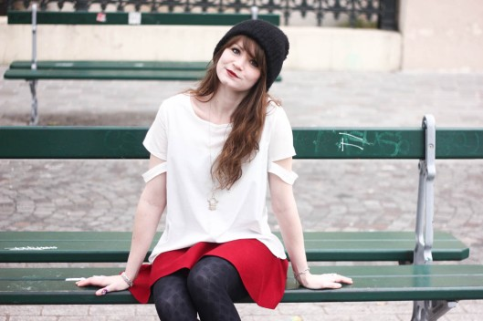 look rouge blanc