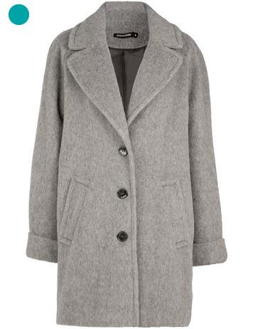 manteau gris oversize