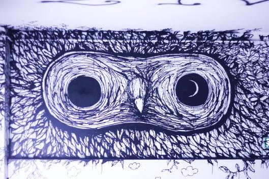 street art hibou