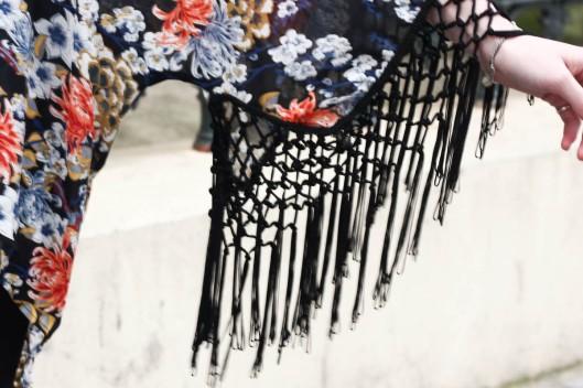kimono franges