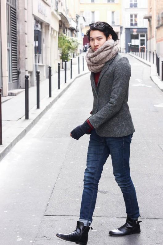 look tweed homme