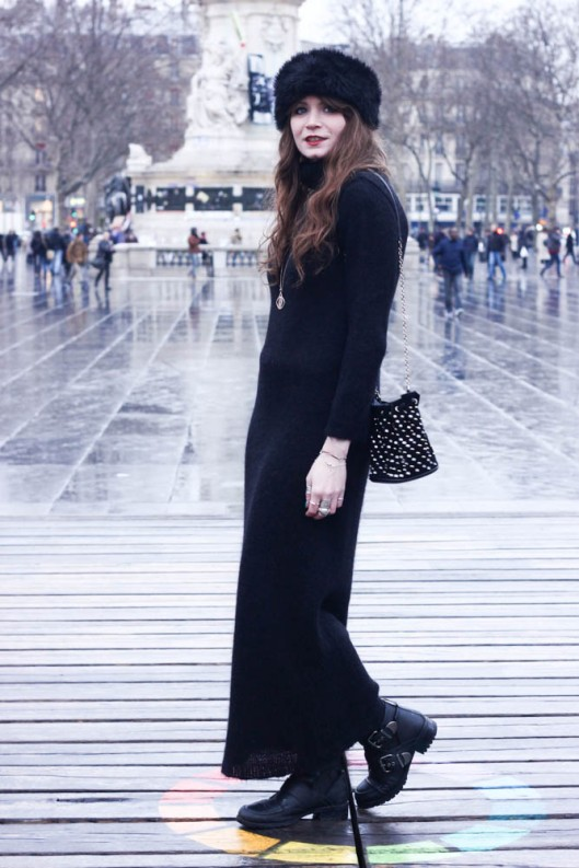robe longue col roulé