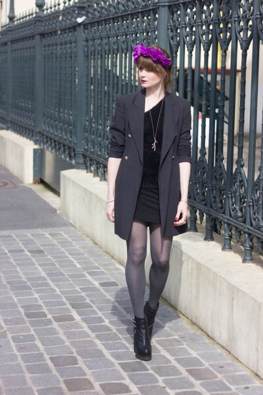 elegant parisian fashion blogger